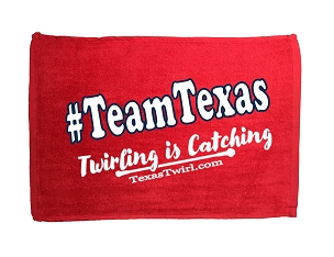 #TeamTexas Twirling is Catching Towel